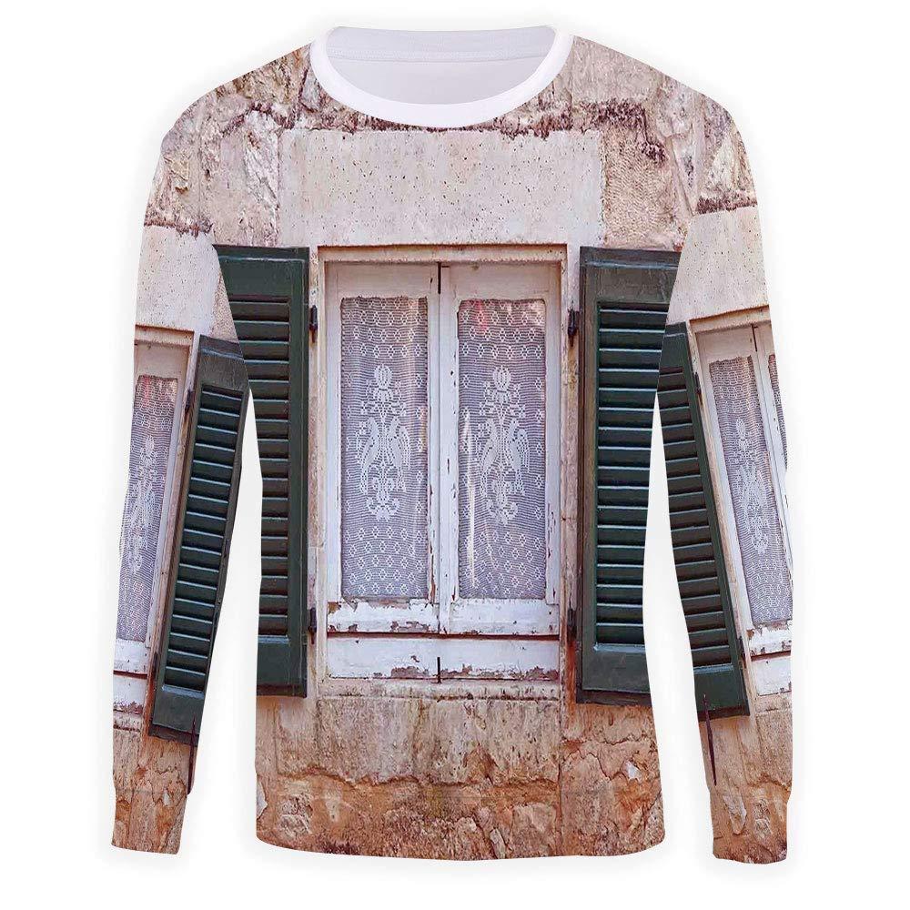 MOOCOM Mens Crewneck Shutters Decor Sweatshirt