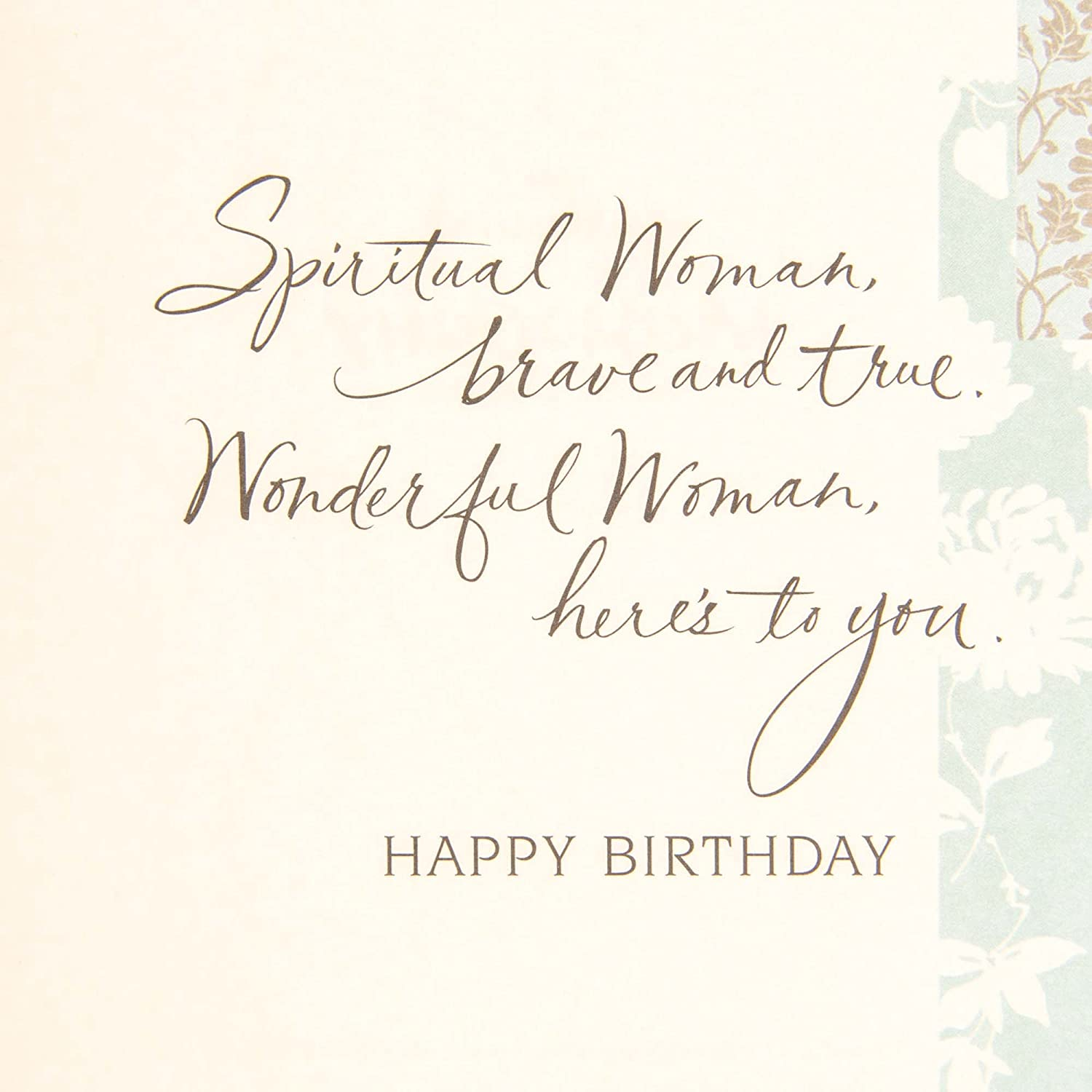amazoncom hallmark mahogany birthday greeting card spiritual and wonderful woman office products