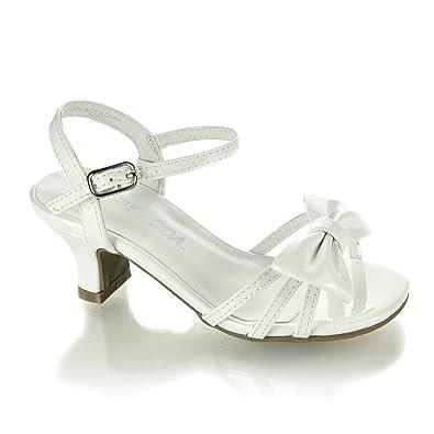 29d0abec3f78c9 Soda Girls Girly-Ii Metallic Glitter Open Toe Bow Slingback Small Block  Heel Sandals