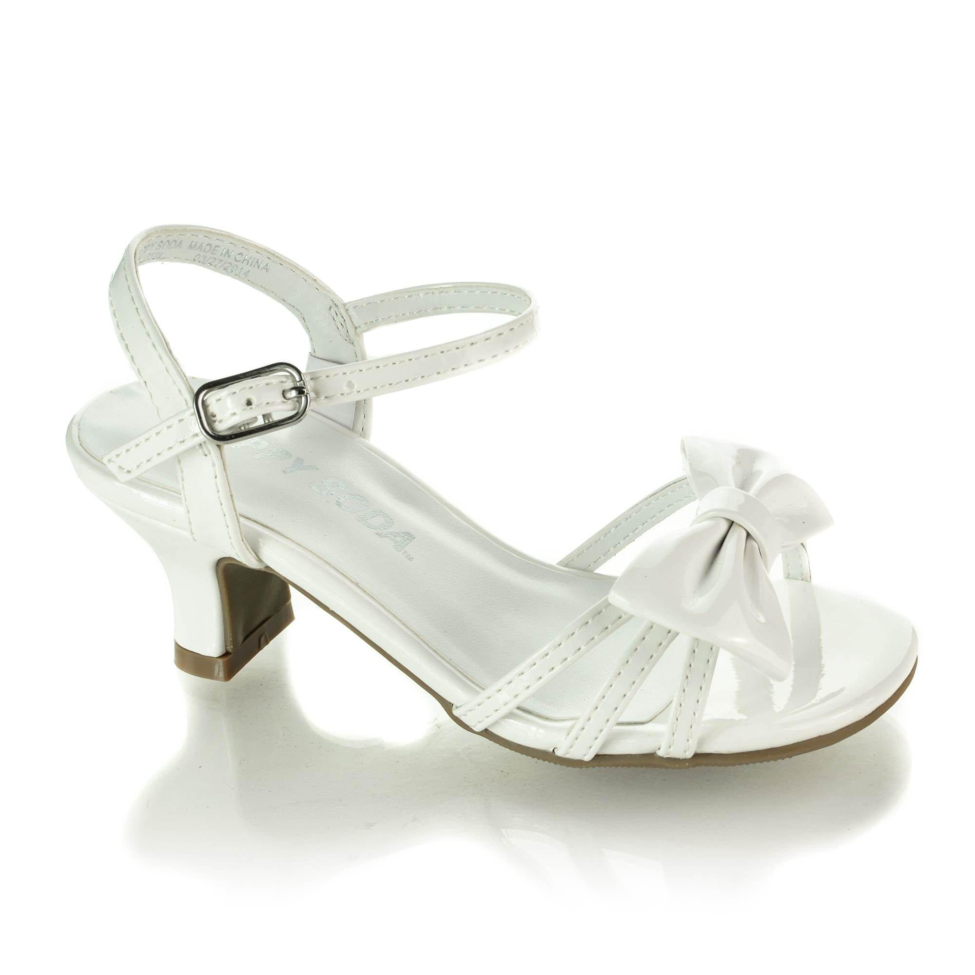 3098df8fdb4d SODA Sarina-2 Children s Girl s Open Toe Slingback Block High Heel Sandals  product image
