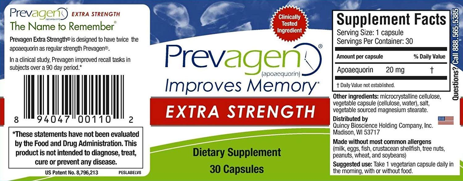 Prevagen Extra Strength - Twin Pack by Prevagen (Quincy-Bioscience) (Image #3)