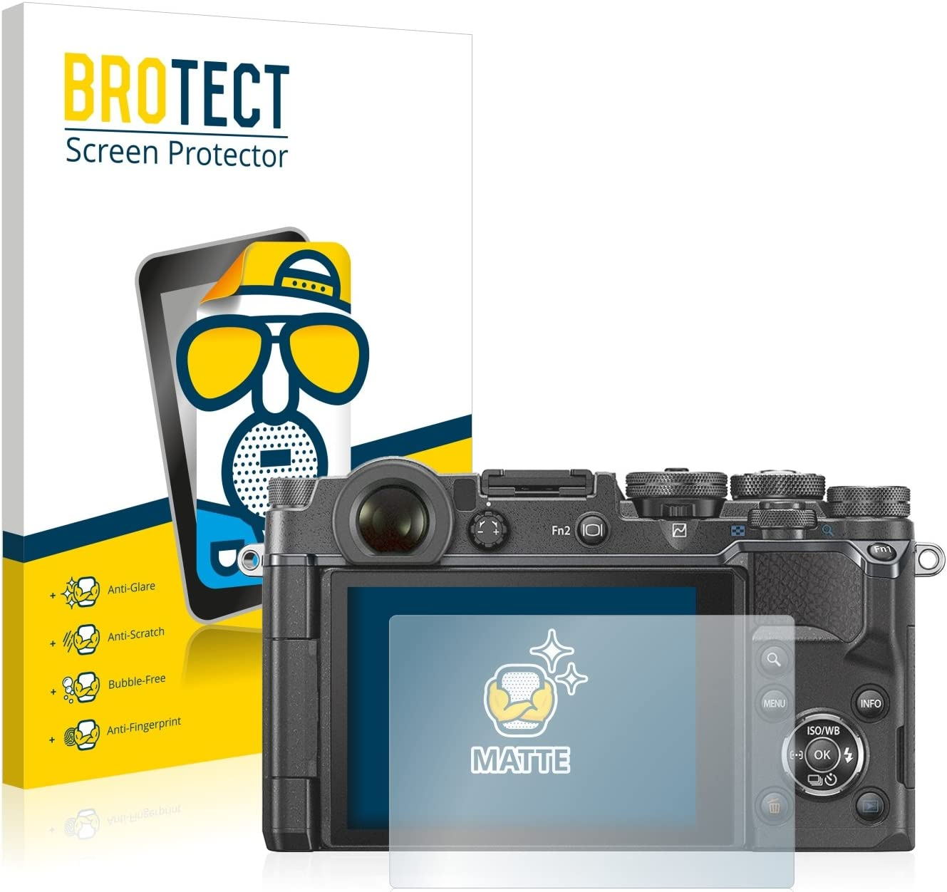 Anti-Fingerprint Protection Film brotect 2-Pack Screen Protector Anti-Glare compatible with Olympus PEN-F Screen Protector Matte