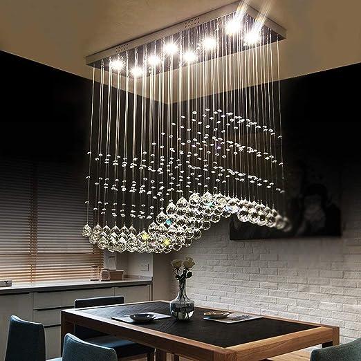 Lampadario moderno chiaro K9 rettangolare Crystal Chandelier luce da ...