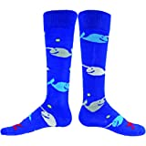 Red Lion Narwhals Whale Knee High Socks ( Royal Blue Blue - Medium / Large )