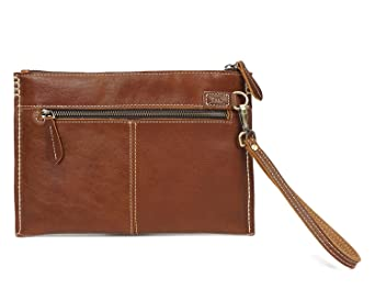 Color : Brown, Size : S Mens Wallet Handmade Leather Clutch Bag Retro Fashion Slim Folders Pack