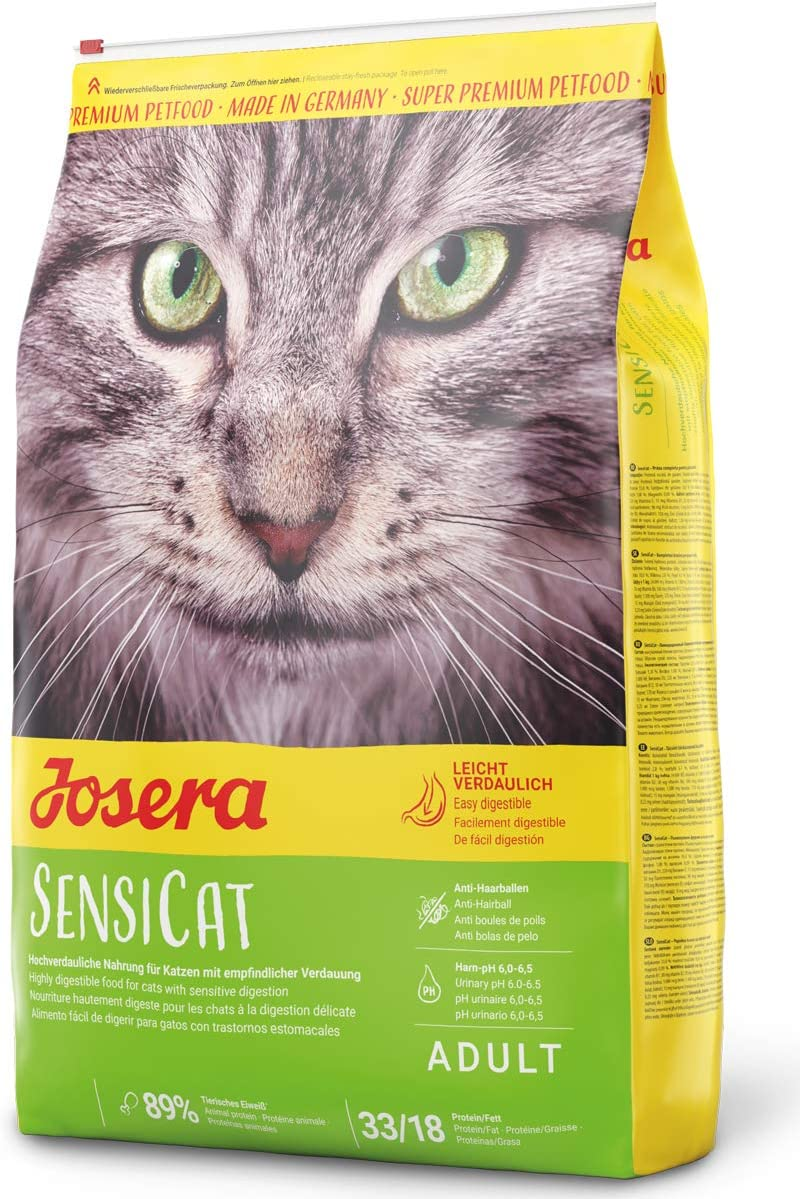 JOSERA Saco de comida para Gato - SensiCat, 10kg, Gato