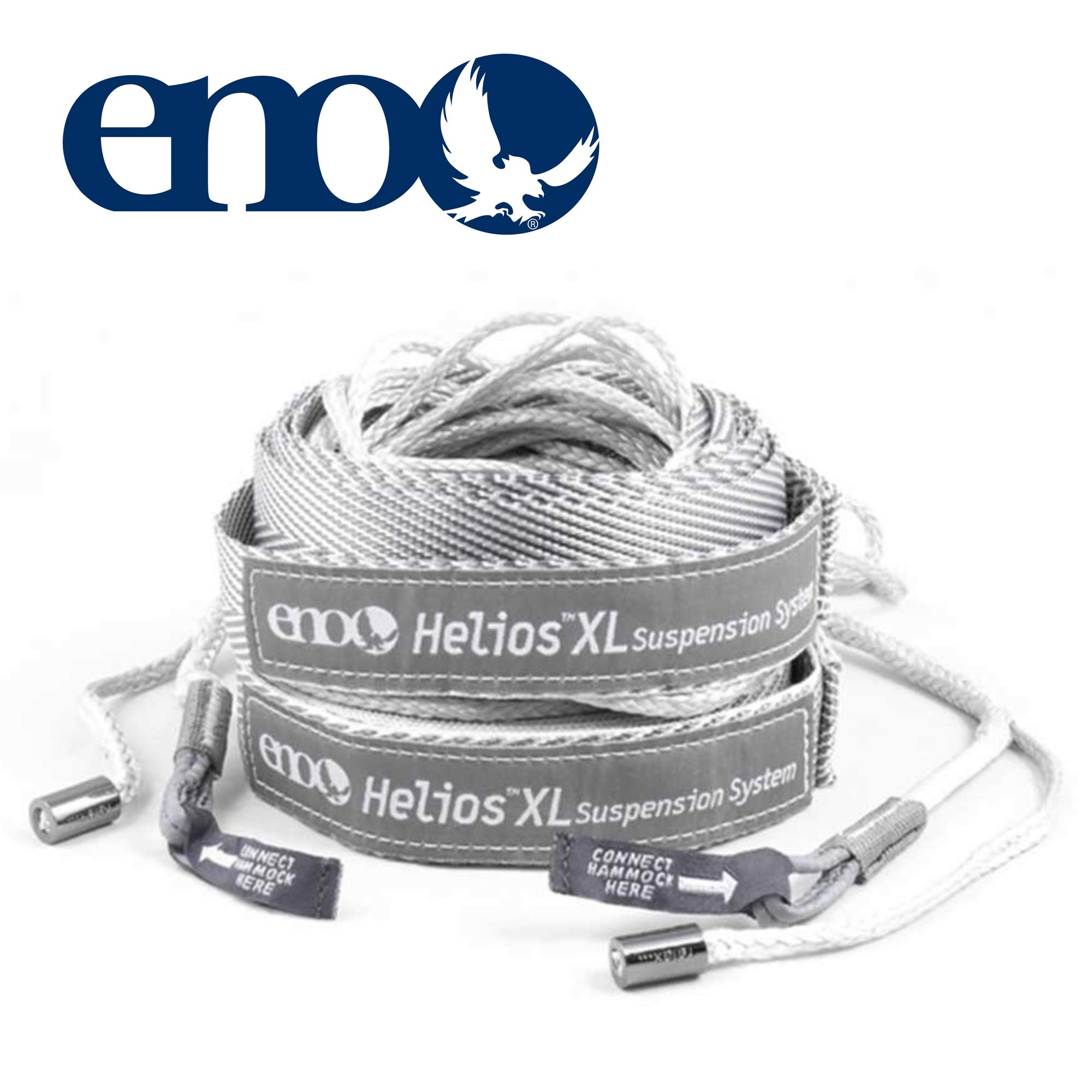 ENO - Eagles Nest Outfitters Helios XL Ultralight Hammock Straps Suspension System with Storage Bag, 300 LB Capacity, 13'5'' x 1'' by ENO