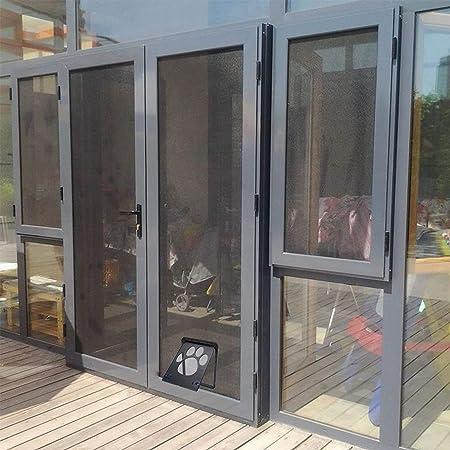 Hyindoor Puerta para Perros Gatera Mosquitera para Mascotas Domésticos Puerta Magnética con Cierre Automático para Gato y Perro Pequeño(24x29cm): Amazon.es: Productos para mascotas