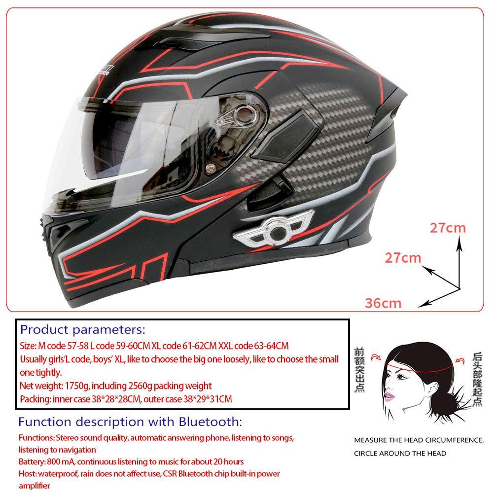 Cascos de motocicleta modulares Certificación Bluetooth + FM ...
