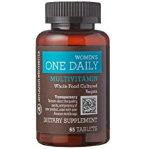 Amazon Brand - Amazon Elements Women's One Daily Multivitamin, 59% Whole Food Cultured, Vegan, 65 Tablets, 2 month supply