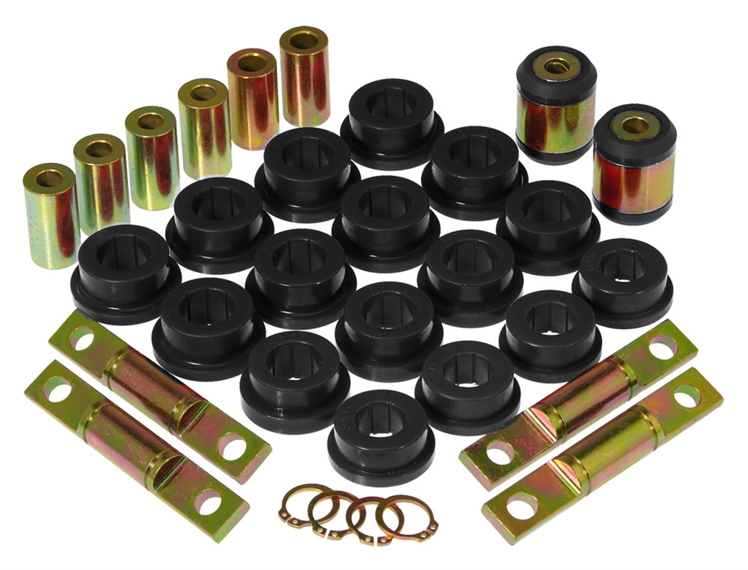 Prothane 8-318-BL Black Rear Upper and Lower Control Arm Bushing Kit