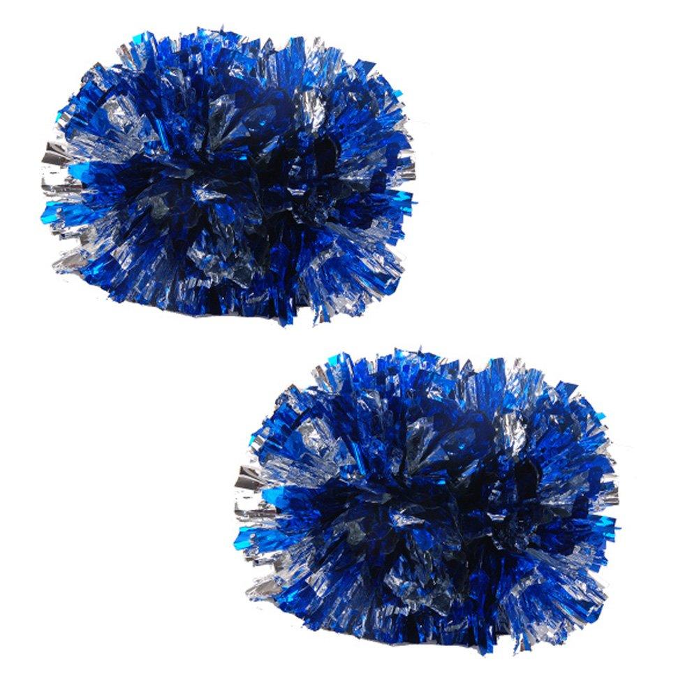 Bunte Plastik Baton Griff Cheerleading Poms 120g (Paar), Blau + Silber Blancho Bedding
