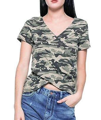 if she Damen Army Militär Military Bundeswehr Kurzarm T-Shirt in ...