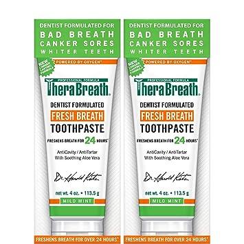 Amazon.com : TheraBreath - Fresh Breath Toothpaste - Anti-Cavity ...