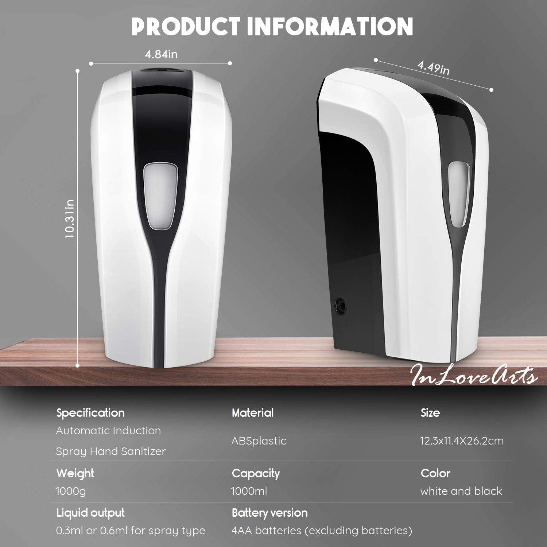 InLoveArts Touchless Dispensador de Niebla de Jab/ón Montado en Pared M/áquina de Higiene de Manos 1000 ml para el Hotel Hogar Escuela