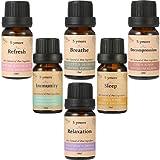 Skymore Top 6 Olio Essenziale Set --- Sonno, Respira, Relax, Aggiorna, Immunità e Decompressione, Olio Umidificatori Aromaterapia, 100% Pure & Naturali Ingredienti, Grado Terapeutico, Meill