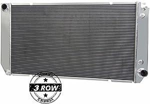 Primecooling 3 Row Full Aluminum Radiator for GMC/Chevy C/K 1500 2500 3500 Blazer 6.5L Diesel Trucks 1994-2000