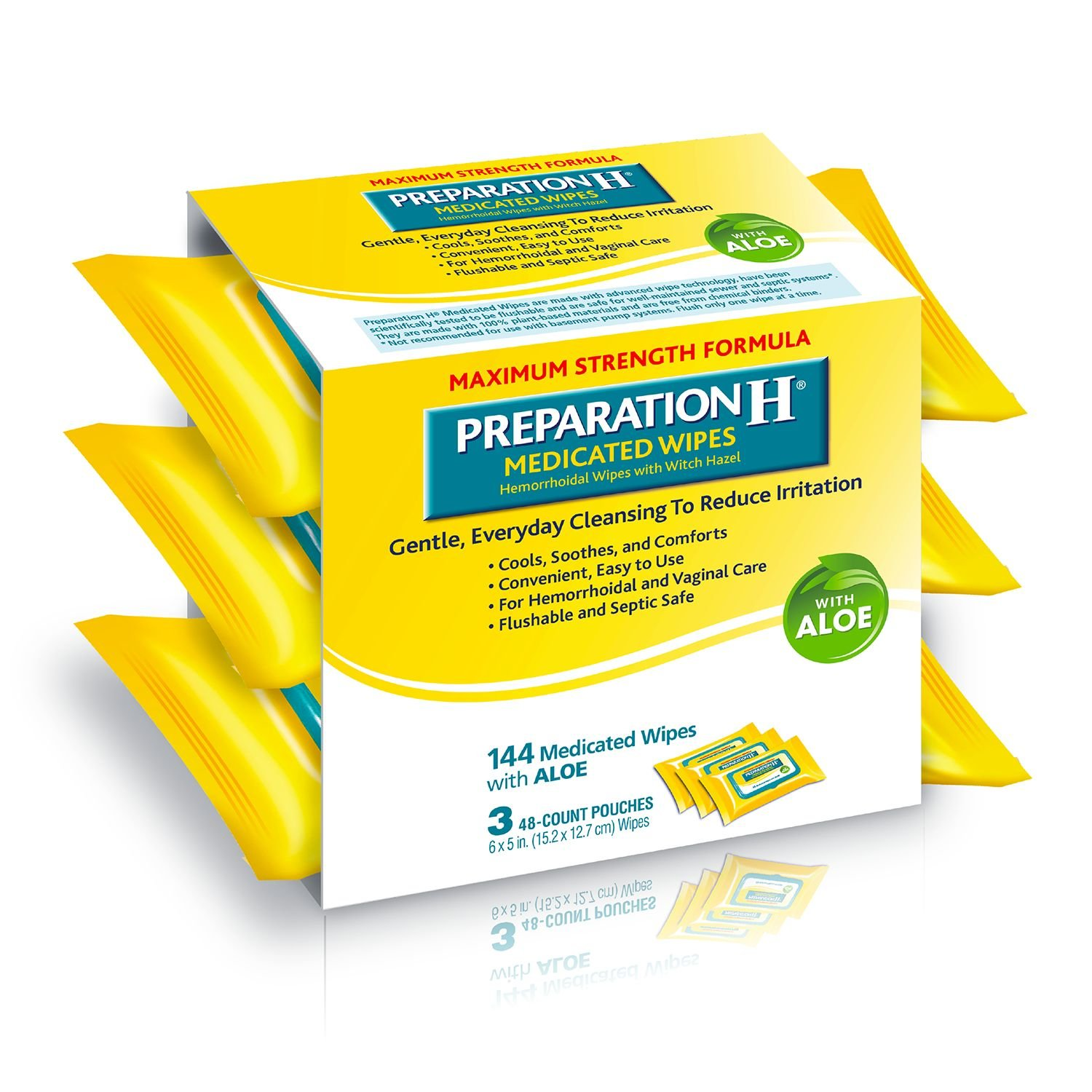 Preparation H Medicated Wipes 48 Ea (Pack Of 9) by Preparation H