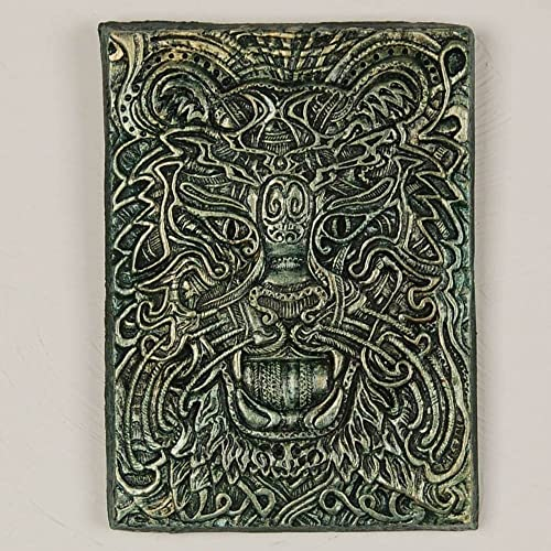 Attrayant Celtic Tiger Handmade Decorative Garden Art Cast Stone Wall Plaque