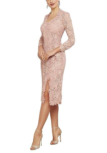 Amazon.com: Newdeve - Vestido de encaje para mujer con ...