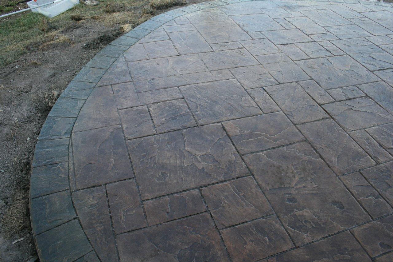 Slate 8'' Border Decorative Concrete Stamping Roller Set