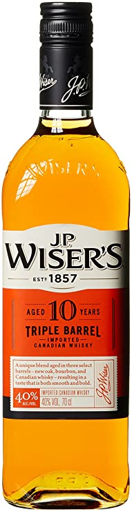 J.P. WISER´S Triple Barrel 10 Years Old Whisky (1 x 0.7 l)