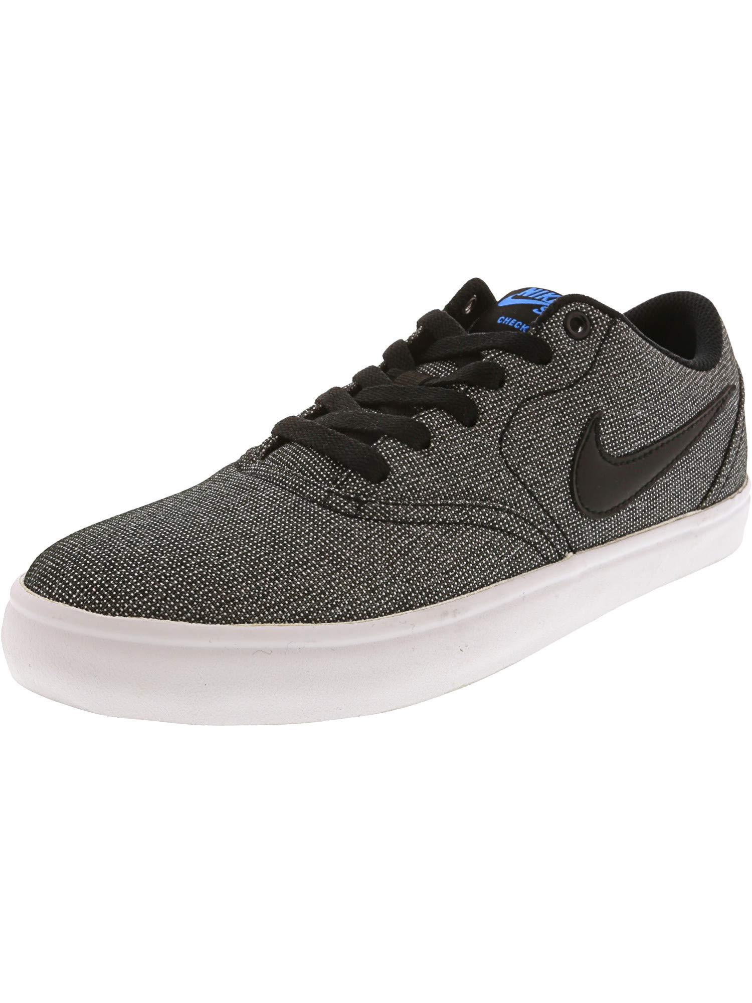 aa5cd8dd013 Nike Men's SB Check Solar Canvas Skate Shoe, Grey/Black/Photo Blue/Black,  7.5 M US