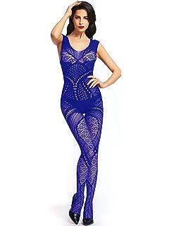 ebe19d5c4c Amazon.com  Amoretu Womens Strapless Lingerie Fishnet Bodysuits ...