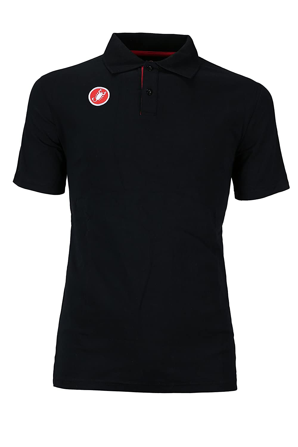 Castelli Race Day Polo Shirt – Men 's B00B16D0PY Small|ブラック ブラック Small