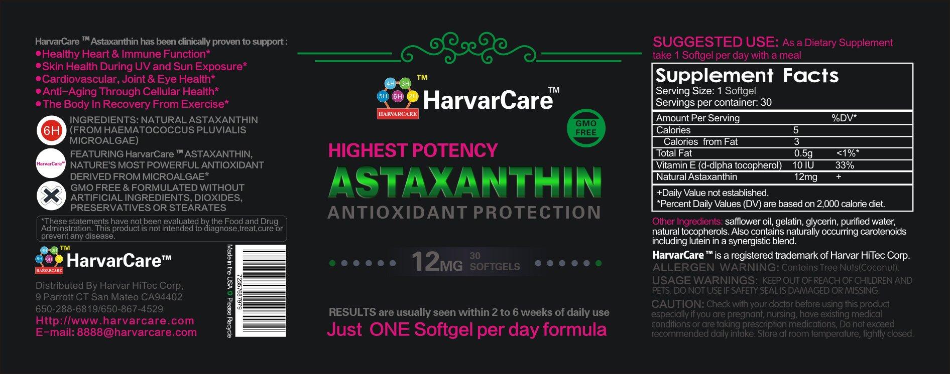 Astaxanthin 12mg (pack of 12)