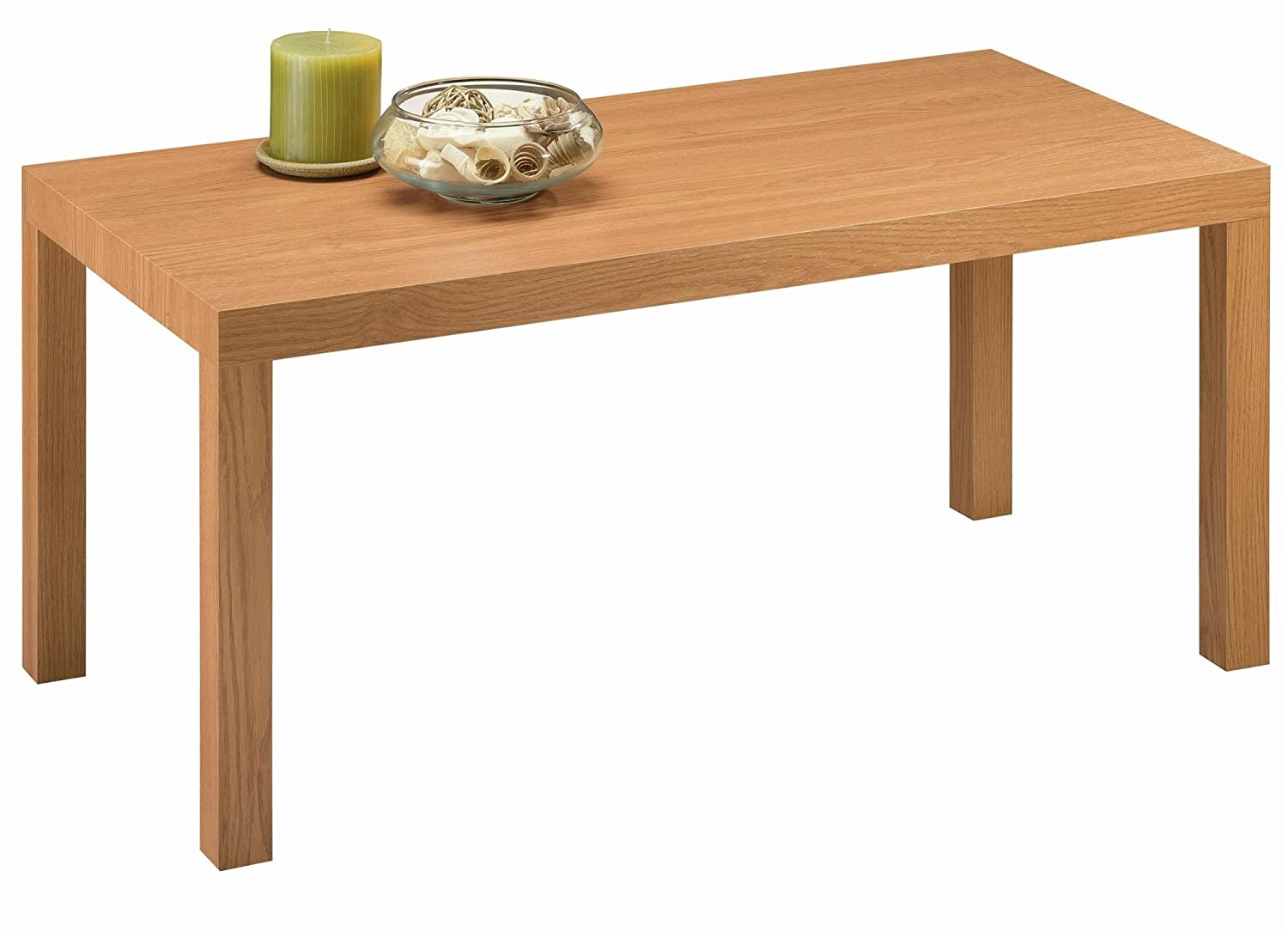 Amazon.com: DHP Parsons Modern Coffee Table, Natural Stain: Kitchen U0026 Dining