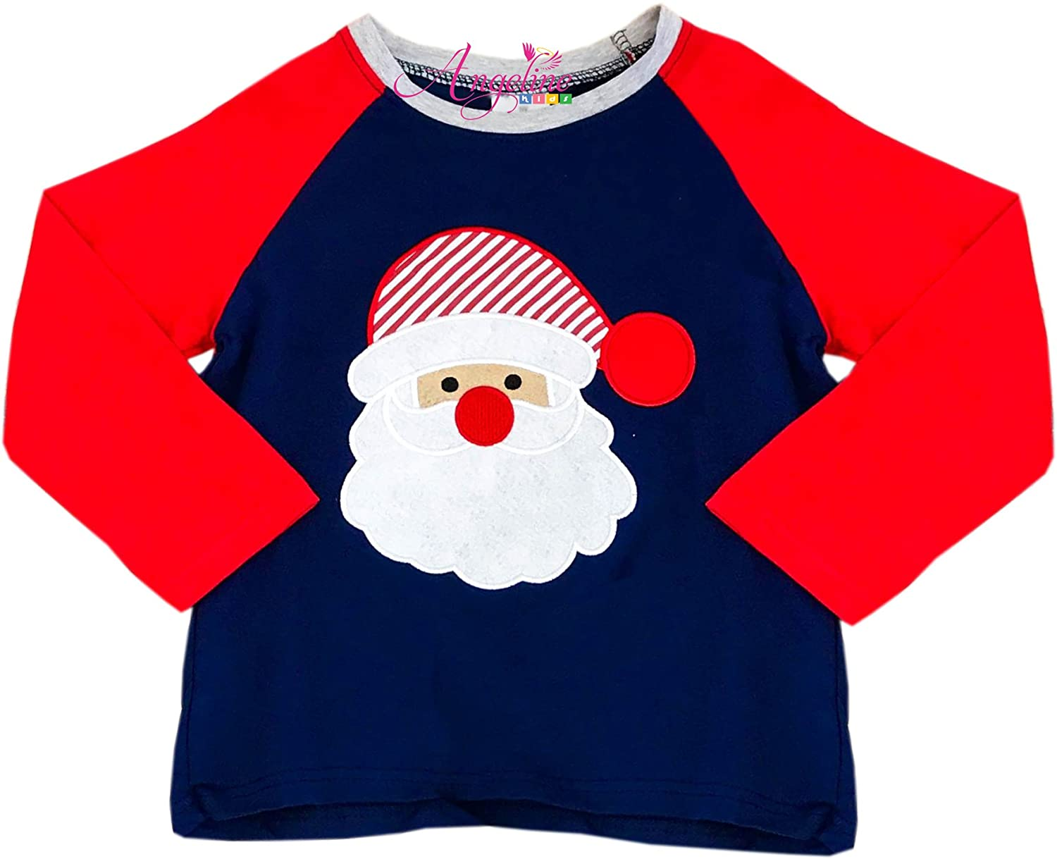 Angeline Boutique Clothing Baby Boys, Girls, Unisex Christmas Raglan T-Shirt Top CHRIST17-UNITEE