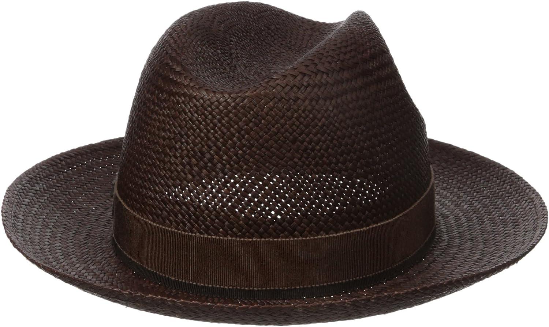 Hickey Freeman Mens Straw Fedora Hat