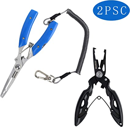 Popular Useful Smart Anglers Fishing Pliers Split Ring Cutters Remover Scissors