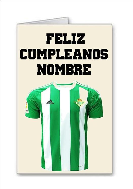 Tarjeta de cumpleaños del equipo de fútbol de Real Betis Nombre ...