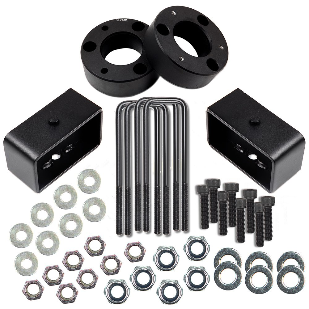 Leveling lift Kit for chevy,ECCPP 3 Front and 1 Rear Leveling lift kit fits for Chevrolet Silverado 1500 Sierra 1500 GMC 1500 07-18
