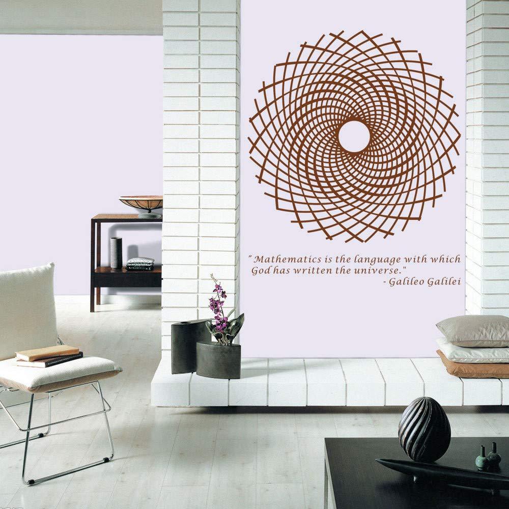 haotong11 Marrón 70  58cm 58cm  geométrica Rejilla matemática estética Artista Oficina Viva Fondo Etiqueta de la Pared 43539c