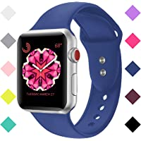 Booyi Sport Band Apple Watch 38mm 42mm, Soft Silicone Replacement Bands iWatch Apple Watch Series 3,2,1