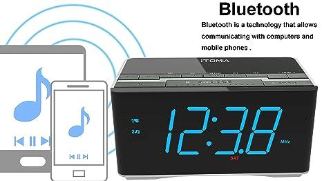 Amazon.com: Reloj despertador con radio iTOMA y bocinas ...