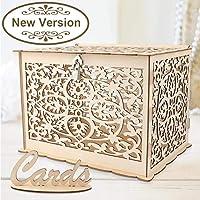 OurWarm Caja de madera para tarjetas de boda