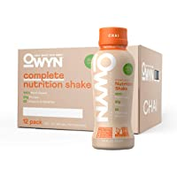 OWYN - 100% Vegan Plant-Based Meal Replacement Shakes | Chai, 12 Fl Oz (Pack of 12) | Dairy-Free, Gluten-Free, Soy-Free…