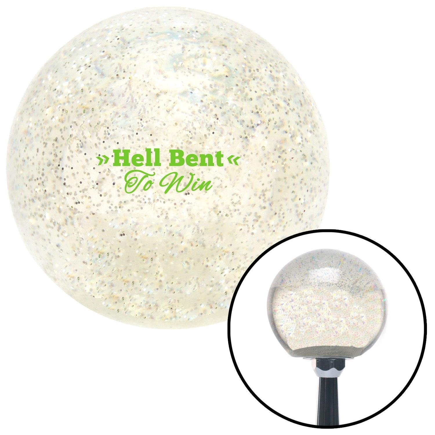 Green Hell Bent Clear Metal Flake with M16 x 1.5 Insert American Shifter 278267 Shift Knob
