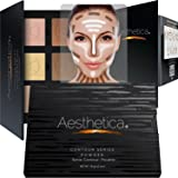 Aesthetica Cosmetics Contour and Highlighting Powder Foundation Palette/Contouring Makeup Kit; Easy-to-Follow, Step-by…