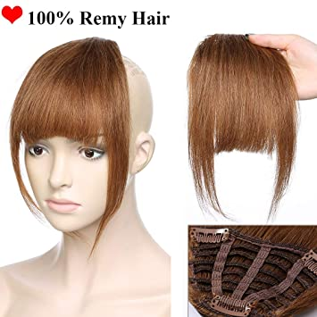 Human Hair Clip in Fringe Bangs Invisible