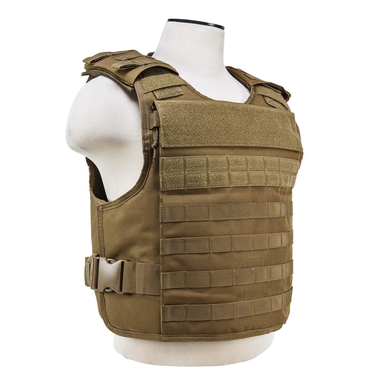 ATG Rapid Tactical Vest MOLLE and PALS Fully Adjustable Law Enforcement Tan, M-2XL
