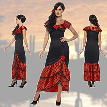 NET TOYS Vestido Flamenca Carmen Traje típico español S 36/38 ...