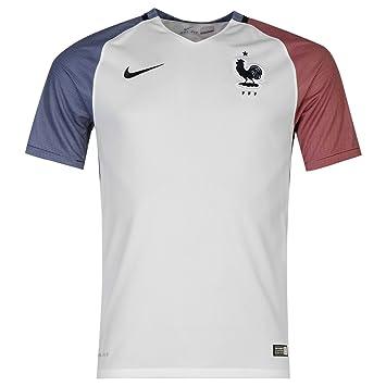 Nike Top Camiseta de Francia Away Jersey 2016 para hombre color blanco de fútbol Talla: