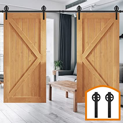 HomeDeco Hardware 11 FT Big Wheel Sliding Barn Wood Door Track Hardware  Interior Closet Door Kitchen