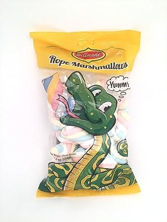 Halal Rope Marshmallows, Rainbow Flavor 5 3 oz