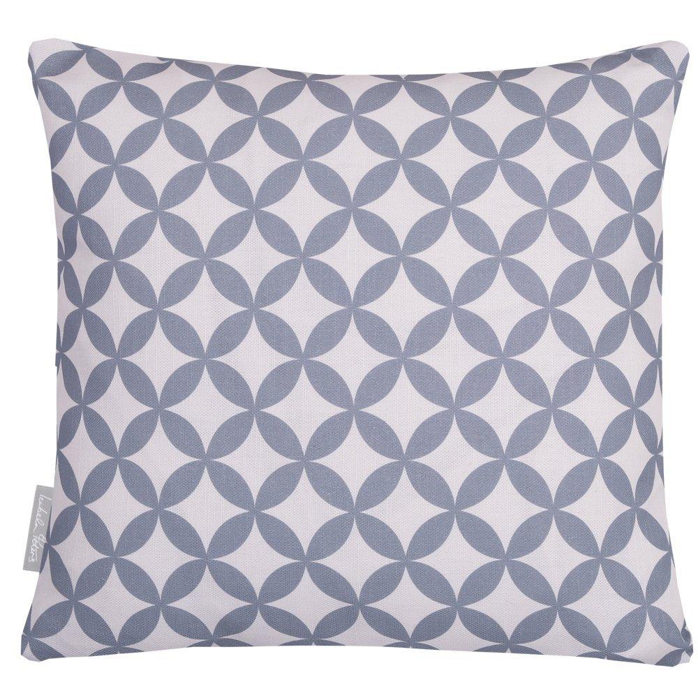 Designer Waterproof Moroccan Garden Outdoor Cushions, Set of 4, 40 x 40 cm - Grey & White Bahia,